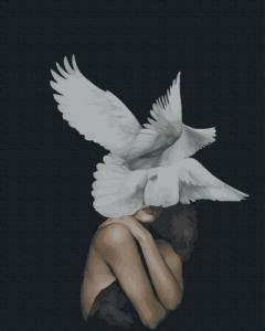 Картины по номерам Женщина - птица