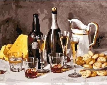 Картины по номерам Вино c фруктами