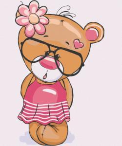 Картины по номерам Медвежонок Роузи