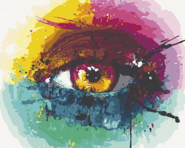Картины по номерам Радужный глаз