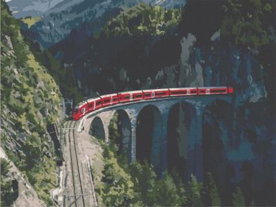 Картины по номерам Путешествие в сердце Швейцарии