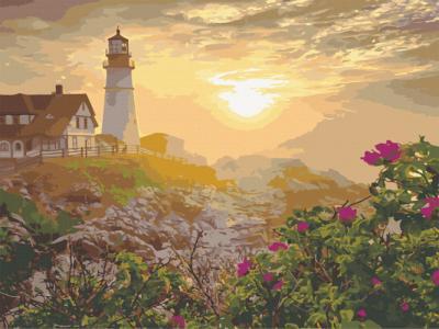 Картины по номерам Маяк в Портленде. США