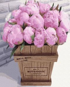 Картины по номерам Букет розовых пионов