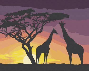 Картины по номерам Африка перед сном