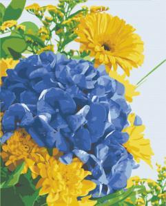 Картины по номерам Гортензия в цветах