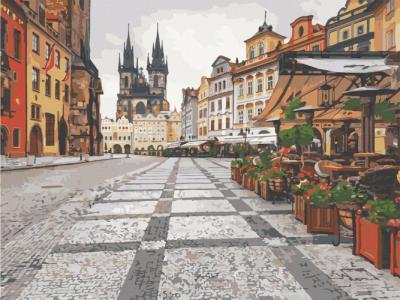 Картины по номерам Старый город