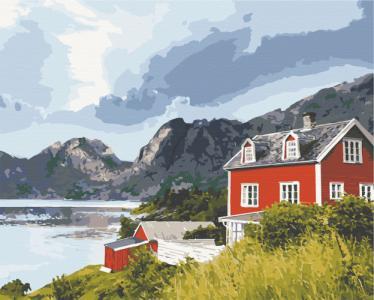 Картины по номерам Фьорды Норвегии