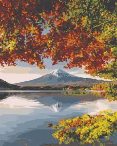 Картины по номерам Фудзияма осенью