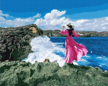 Картины по номерам Путешественница у моря