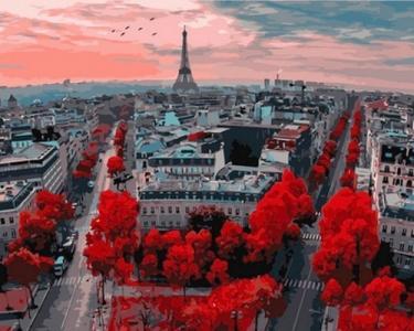Картины по номерам Алые краски Парижа