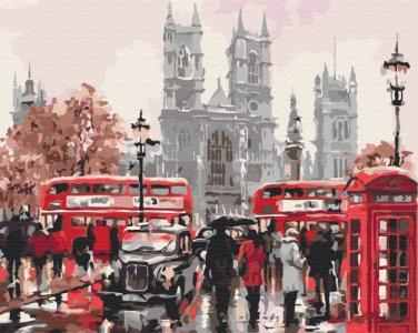 Картины по номерам Дождливый Лондон