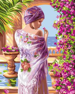 Картины по номерам Цветы у лоджии