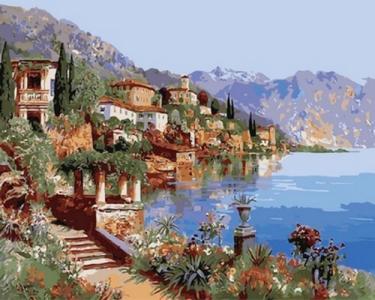 Картины по номерам Теплое море Италии