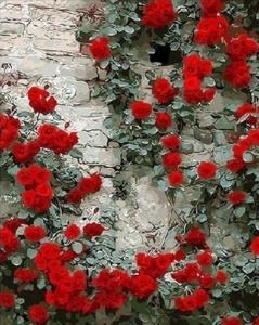 Картины по номерам Вьющаяся роза