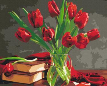 Картины по номерам Букет тюльпанов