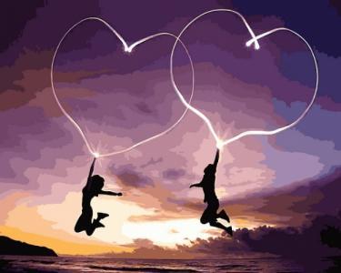 Картины по номерам Влюбленные сердца