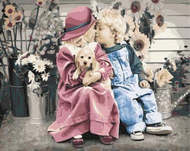 Картины по номерам Первая влюбленность