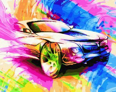 Картины по номерам Авто в красках