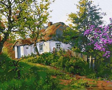 Картины по номерам Деревенский домик