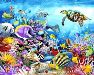 Картины по номерам Черепаховый рай