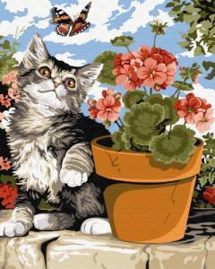 Картины по номерам Ленивый котенок