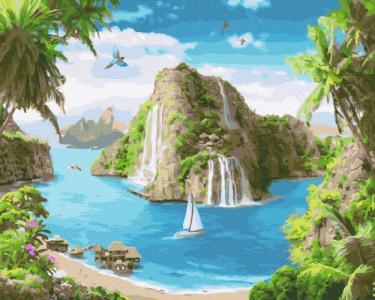 Картины по номерам Тропическая гавань