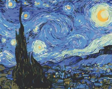 Картины по номерам Звездная ночь