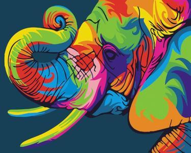 Картины по номерам Радужный слон