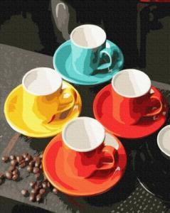 Картины по номерам Дружеское чаепитие