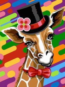 Картины по номерам Жираф в шляпе