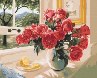 Картины по номерам Лимонный акцент красных