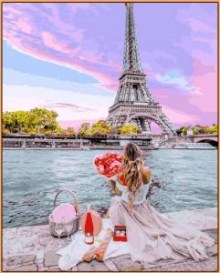 Картины по номерам Свидание в Париже
