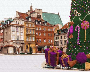 Картины по номерам Новогодняя Варшава
