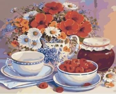 Картины по номерам Приглашение на чай