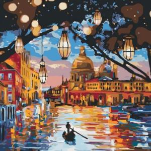 Картины по номерам Огни Венеции