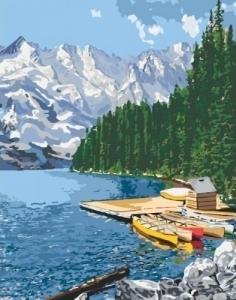 Картины по номерам Горное озеро