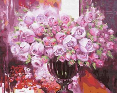 Картины по номерам Фиолетовое сияние в вазе