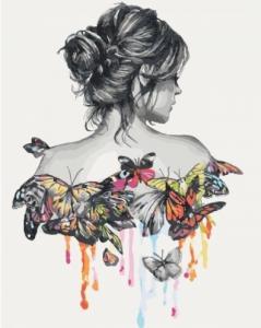 Картины по номерам Нежность бабочки