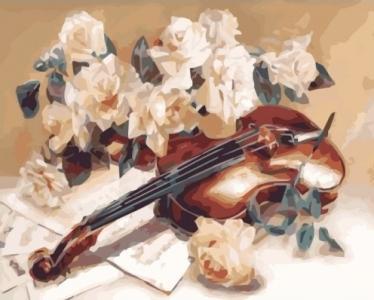 Картины по номерам Мелодия скрипки