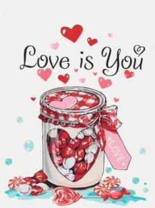 Картины по номерам Love is you