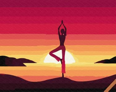 Картины по номерам Медитация на закате