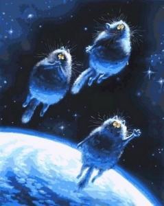 Картины по номерам Синие коты