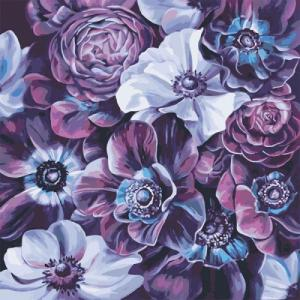 Картины по номерам Фиолетовое разнообразие