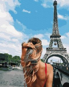 Картины по номерам Красавица в Париже