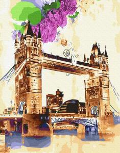 Картины по номерам Тауэрский мост акварелью