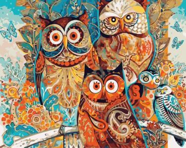 Картины по номерам Волшебные совы