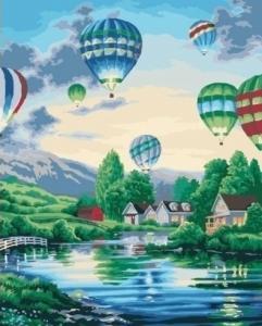 Картины по номерам Воздушные шары 2