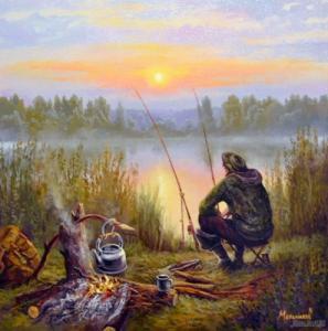 Картины по номерам Отдыхая у реки