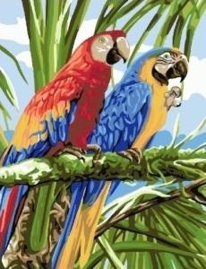 Картины по номерам Яркие ара