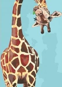 Картины по номерам Весёлый жираф